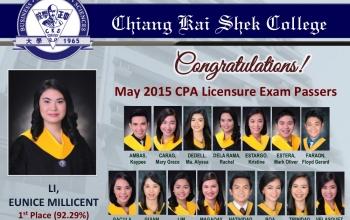 Congratulations to CKSCian CPALE Passers!