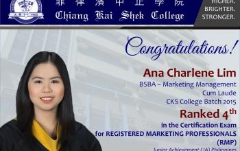 CKSian Ranks 4th in the 5th RMP Exams
