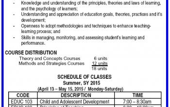 CKS College offers Teacher Certificate Program (TCP) for Summer 2015