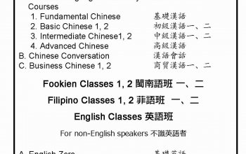 1st Batch of Classes for the Language Center