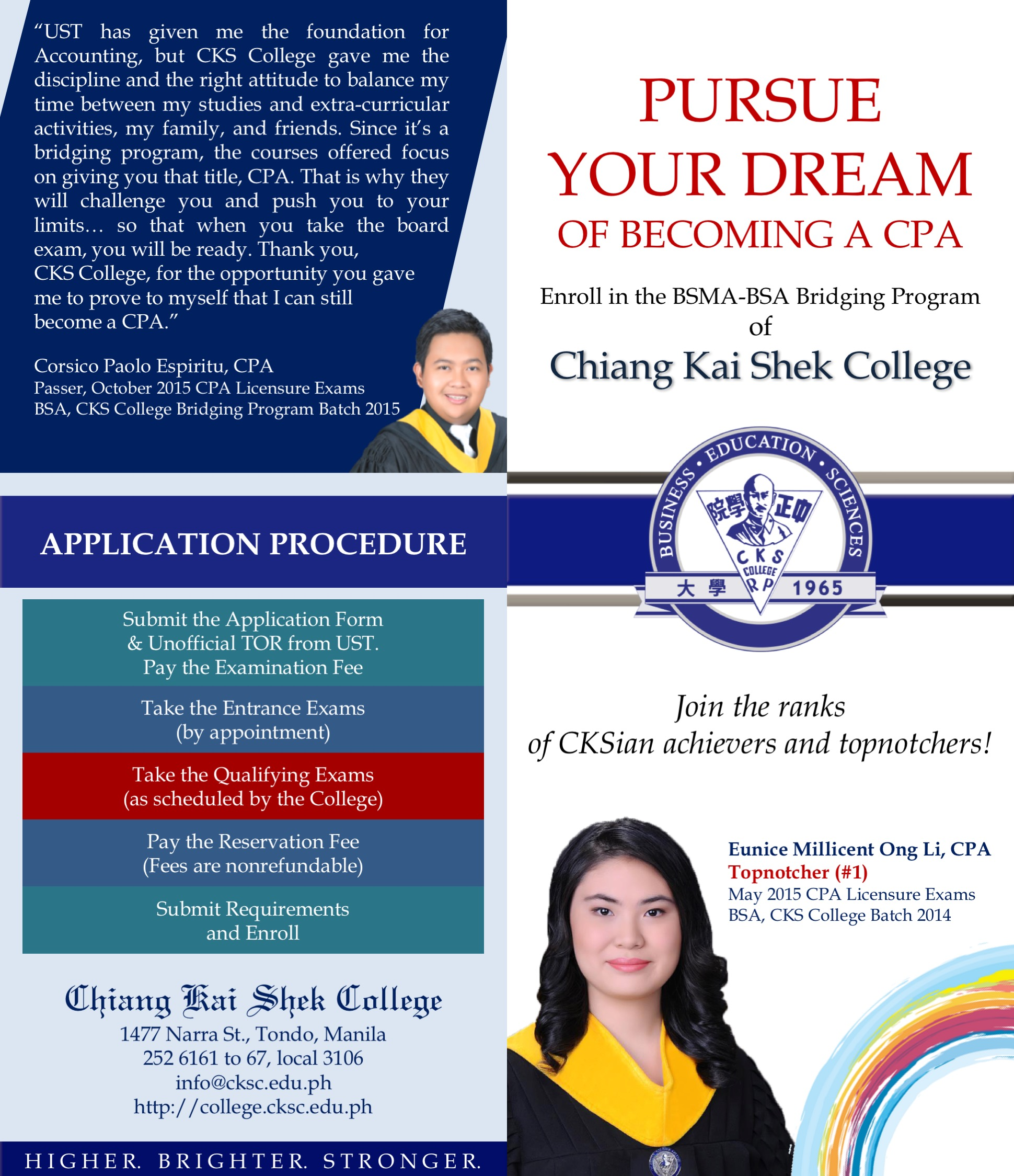 Admission Requirements: Bridging Program
